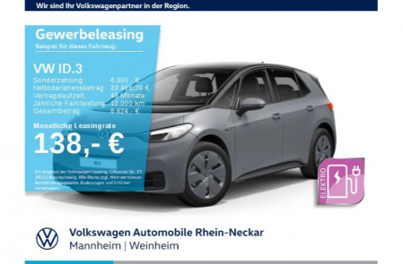 VW ID.3 Pure Performance 110 kW (150 PS) 45 kWh 1-Gang-Automatik