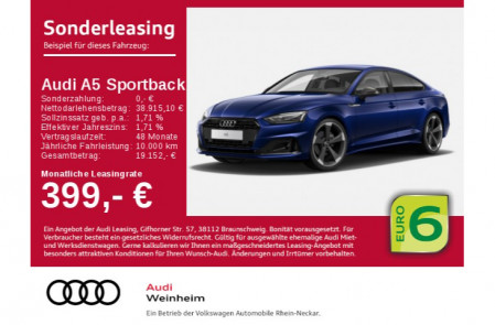 Audi A5 Sportback advanced 35 TFSI S tronic